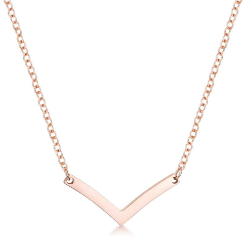 Necklaces $32.50 Stainless Steel Rose Goldtone Chevron Necklace 25-50 necklaces steel