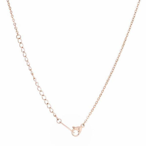 Necklaces $28.75 Textured Butterfly on a Chain in Rose Gold Stainless Steel Necklace 25-50 animal necklaces rg steel