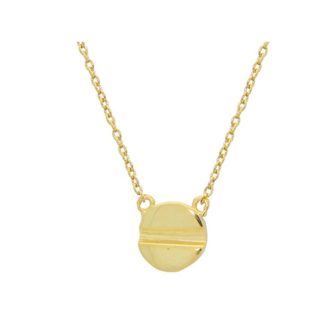 Necklaces $47.00 Yellow Gold Plated Sterling Silver 8Mm Screw Head Pendant Necklace Yg