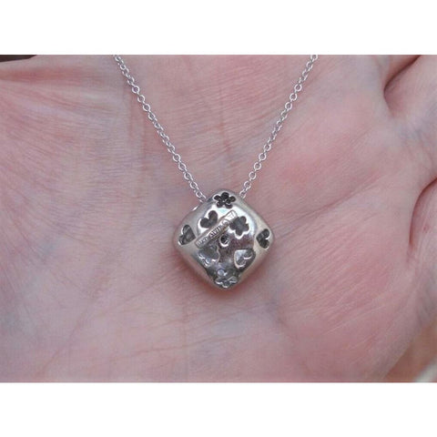 Image of Pendants $415 Designer Diamond in a Square Pendant 14k White Gold