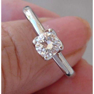 0.50 Carat Diamond 4 Tulip Prong 14K Engagement Ring
