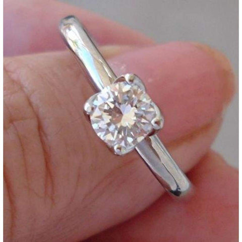 Rings $999.99 0.55 Carat Transitional Old European Cut Diamond 4 Tulip Prong 14K Engagement Ring 14K Er Rg Solitaire Yg