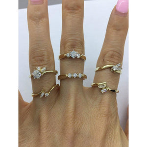 1/2 Carat Diamond Engagement Bridal Sets Matching Wedding Band - 14K Yellow Gold