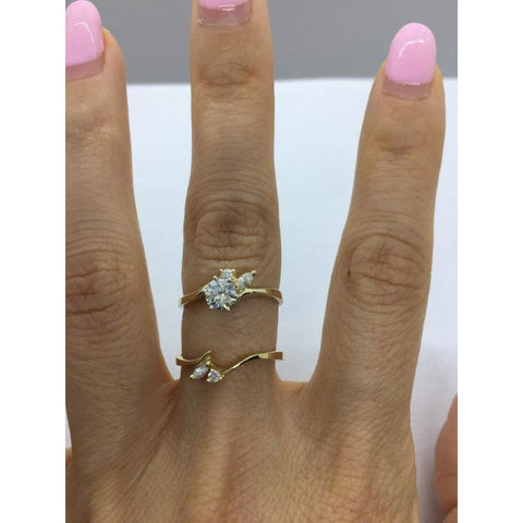 Rings $999.99 1/2 Carat Diamond Engagement Ring With Matching Wedding Band 14K Yellow Gold Bridal Sets Er Marquise Yg