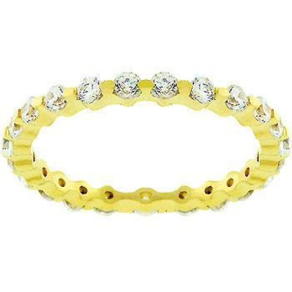 Rings $43.70 18K Gold Plated Lace Eternity 2.5mm Band JGI 2mm band cz eternity yg