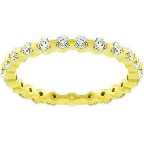 Image of Rings $43.70 18K Gold Plated Lace Eternity 2.5mm Band JGI 2mm band cz eternity yg