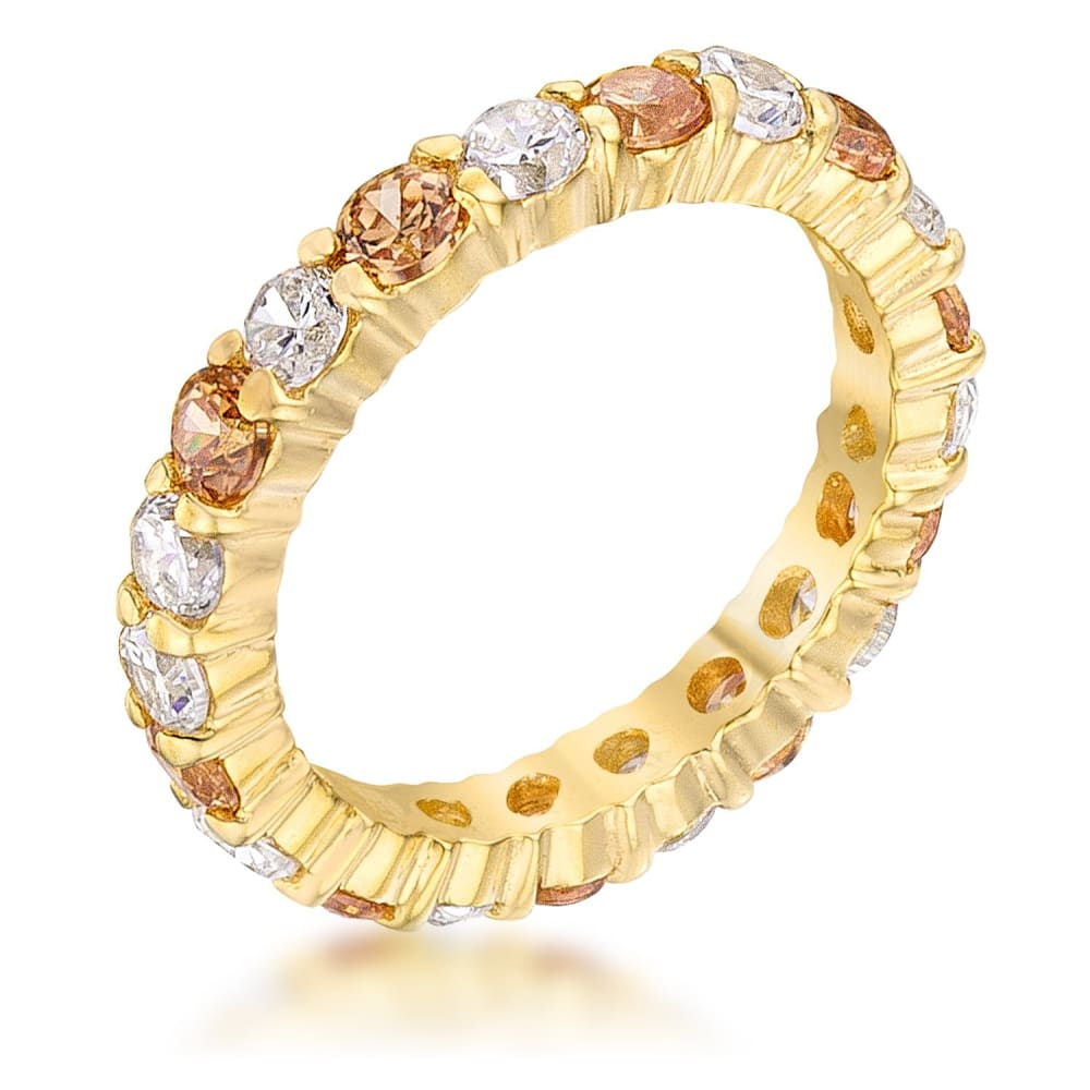 Rings $28.75 18K Gold Plated Sterling Silver Alternating Eternity 3mm Band JGI 3mm 4 carat band cz eternity