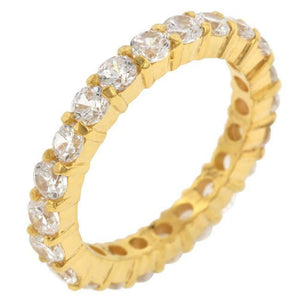 Rings $51.50 18K Gold Plated Sterling Silver Cz Sophia Eternity 3Mm Band Jgi 3Mm 4 Carat Band Cz Eternity