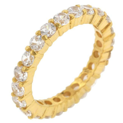 Image of Rings $51.50 18K Gold Plated Sterling Silver Cz Sophia Eternity 3Mm Band Jgi 3Mm 4 Carat Band Cz Eternity