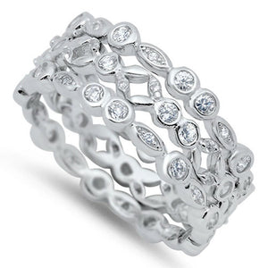 3 Bezel Eternity Bands to Wear Individually or Stacked