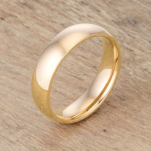 5mm 18K Gold Plated Stainless Steel Band JGI