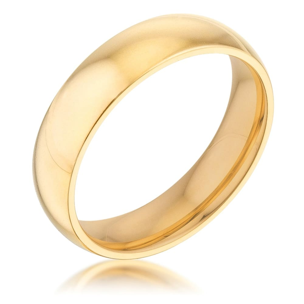 Rings $20.30 5mm 18K Gold Plated Stainless Steel Band JGI 5mm band gold-plated mens plain