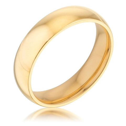 Image of Rings $20.30 5mm 18K Gold Plated Stainless Steel Band JGI 5mm band gold-plated mens plain