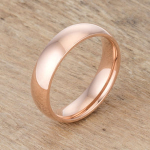 5mm Rose Gold Plated Stainless Steel Band JGI