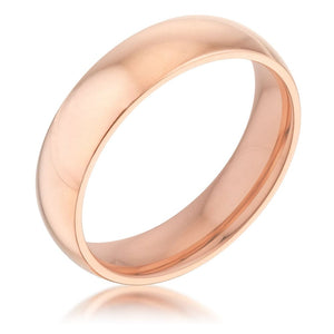 Rings $21.60 5mm Rose Gold Plated Stainless Steel Band JGI 5mm band gold-plated mens plain