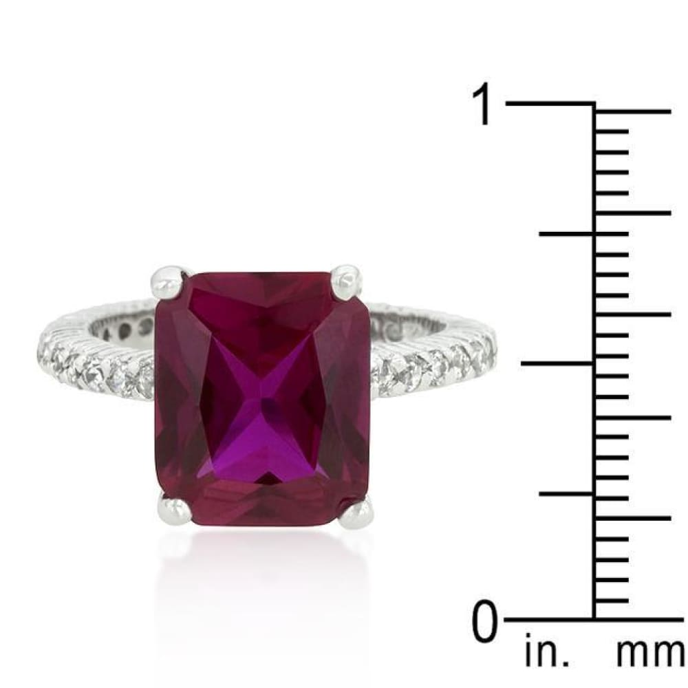 Rings $76.20 6 Carat Pink Radiant Cut Pink Engagement Cubic Zirconia Ring JGI 6 carat BIG cz er pink