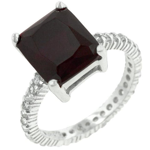 Rings $67.10 6 Carat Radiant Cut Ruby Red Engagement Cubic Zirconia Ring JGI 6 carat big cz er eternity