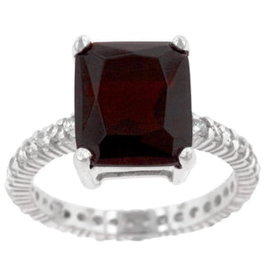 6 Carat Radiant Cut Ruby Red Engagement Cubic Zirconia Ring JGI