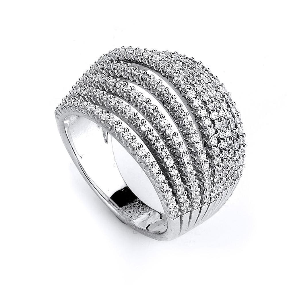 Rings $236.00 9 Row Dome Cz Ring Big Formal Occasion Trending