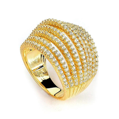 Image of Rings $236.00 9 Row Dome Cz Ring Big Formal Occasion Trending