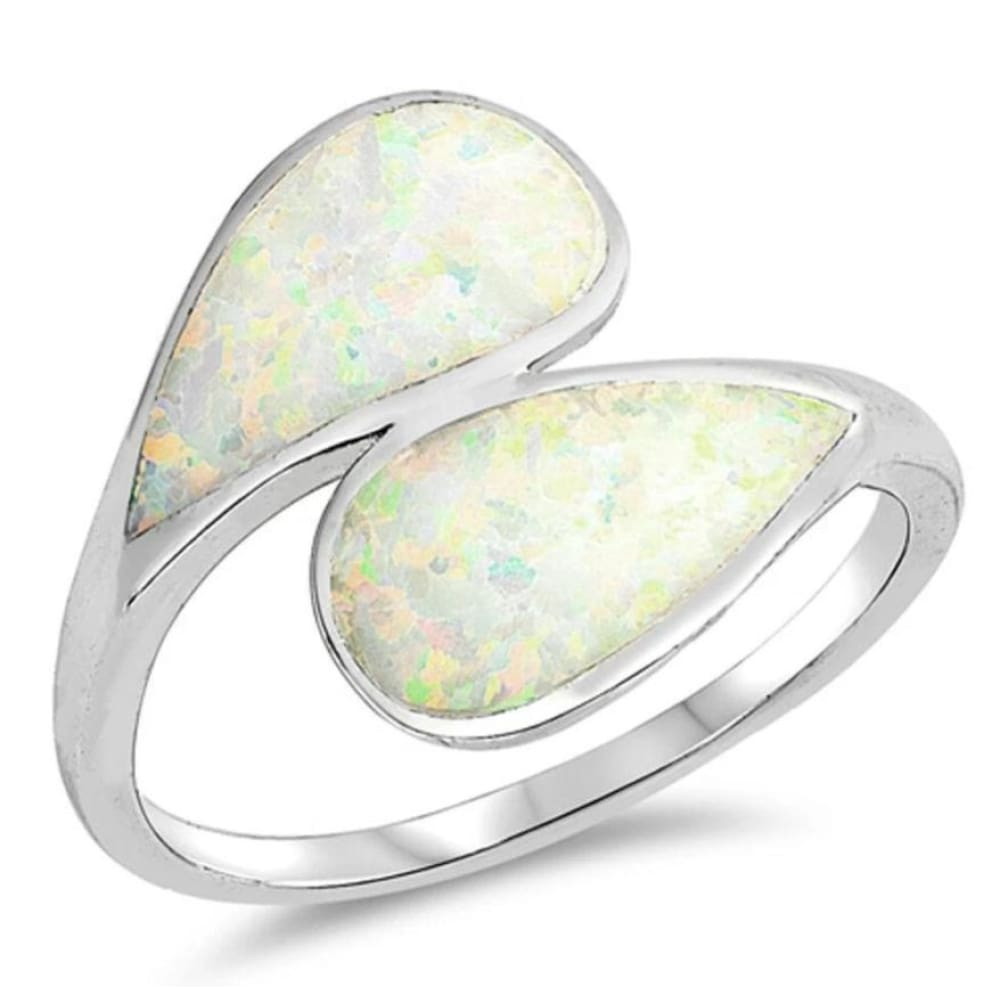 Rings $32.32 Blue Lab Opal in a Double Shank Design Ring 25-50 badge-toprated opal rings size-10
