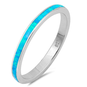 Rings $31.90 Blue Lab Opal Stackable Wedding Band 25-50 badge-toprated blue opal rings