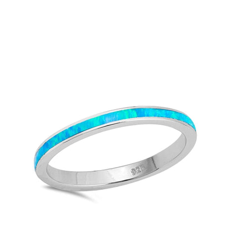Image of Rings $31.90 Blue Lab Opal Stackable Wedding Band blue opal stackable wedding