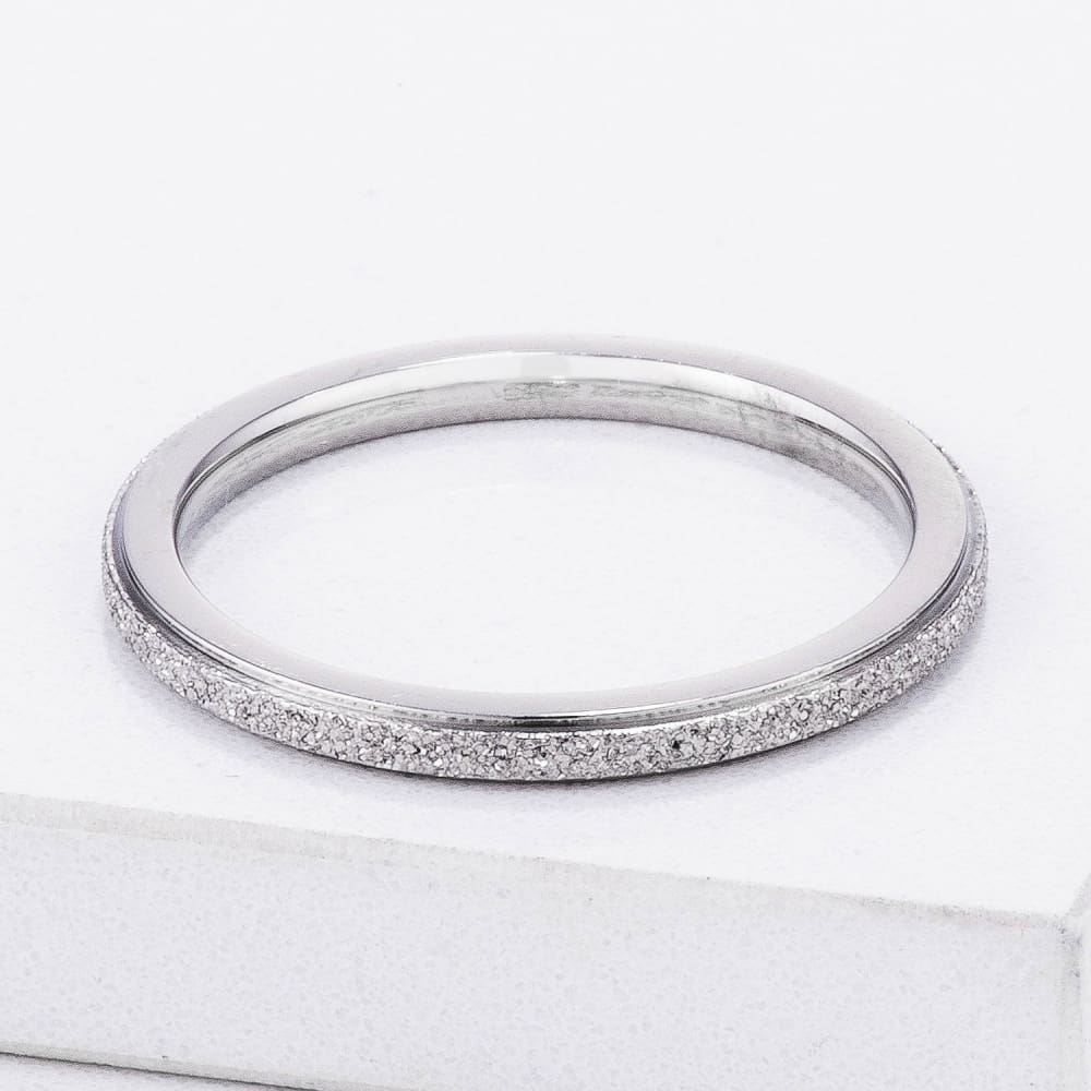Rings $20.30 Diamond Cut Stainless Steel Stackable Ring Band Steel