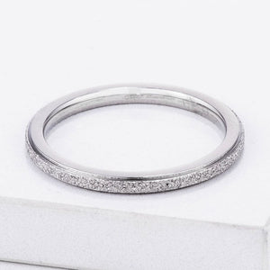 Diamond Cut Stainless Steel Stackable Ring JGI