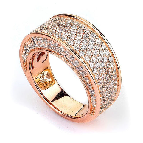 Rings $252.00 Micro Pave Cz Big And Wide Band (14K Yellow Gold) Big Formal Occasion