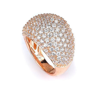 Micro Pave Wide Dome Cubic Zirconia Ring