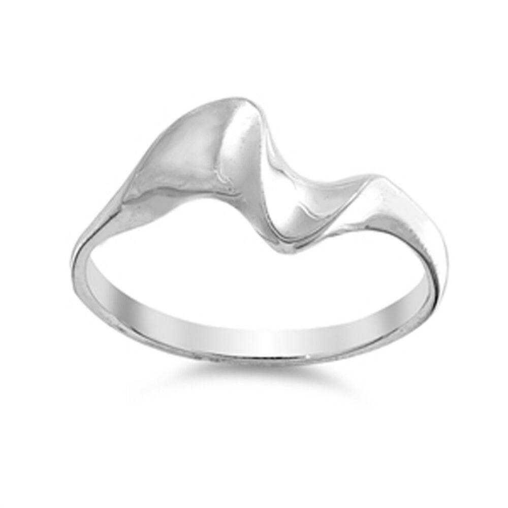 Rings $28.99 Petite Wave Sterling Silver Ring for Women surf