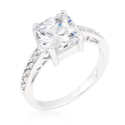Rings $45.00 Princess Cut Square Solitaire Isabella 2 Carat Engagement Ring JGI 2 carat cz er premium princess