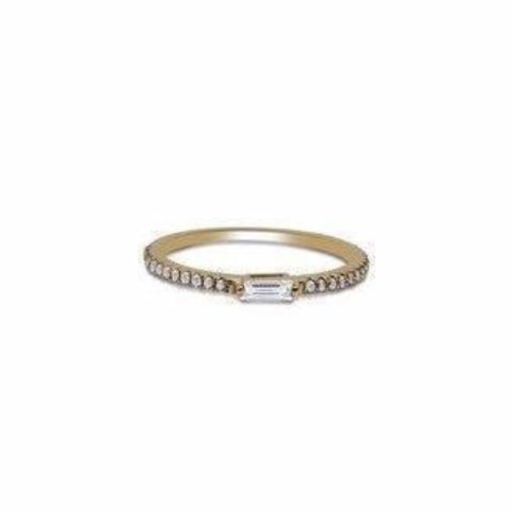 Rings $499.00 Rose Gold Baguette Diamond Ring Wedding Band 14K Gold Stacking Ring