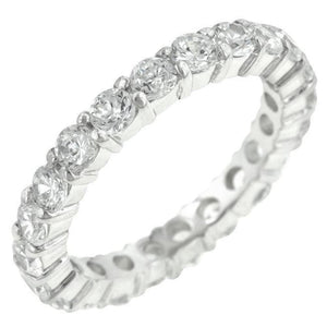 Rings $48.90 Sparkling Eternity Band 2.5Mm Band Jgi Band Cz Eternity Rhodium