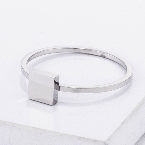 Image of Rings $20.30 Stainless Steel Square Stackable Ring
