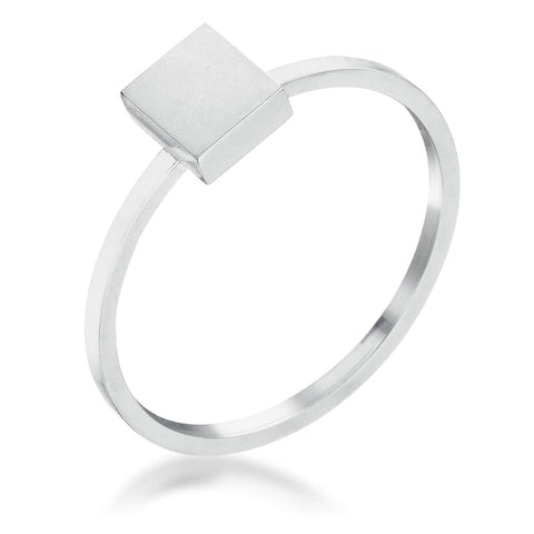 Rings $20.30 Stainless Steel Square Stackable Ring