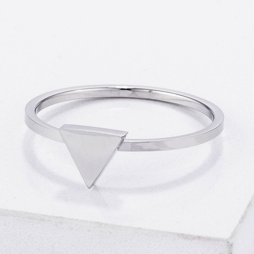 Rings $20.30 Stainless Steel Triangle Stackable Ring Jgi Steel Trillion