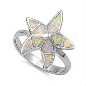 Rings $72.59 Starfish White Lab Opal Thumb Ring 50-100, badge-toprated, opal, rings, size-10