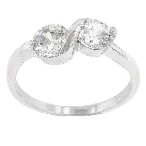 Image of Rings $34.60 Sterling Silver Infinity Anniversary Ring JGI cz infinity rhodium