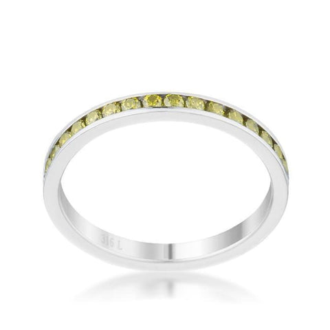 Image of Rings $24.20 Teresa 0.5Ct Peridot Cz Stainless Steel Eternity Band