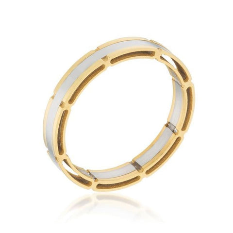Image of Rings $41.10 Two Tone Band Gold Plated Mens JGI band mens rhodium steel yg
