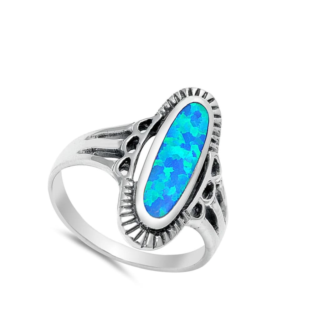 Clear CZ White Simulated Opal Wave Victorian Style New Sterling Silver Ring Sizes 5-10