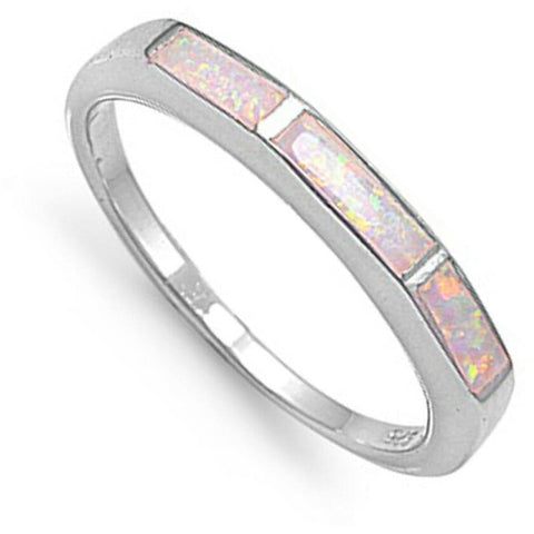 Image of Rings $38.20 White Lab Opal Mosaic Pattern Design Set in a Sterling Silver Thumb Band mosaic opal thumb white