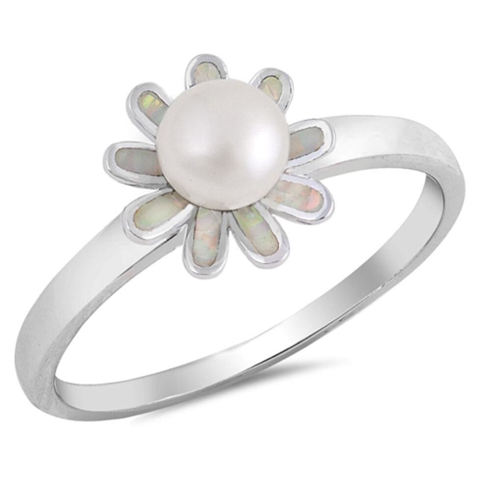 Cz Sparkle Jewelry Rings 29 38 Free Shipping White Round Pearl
