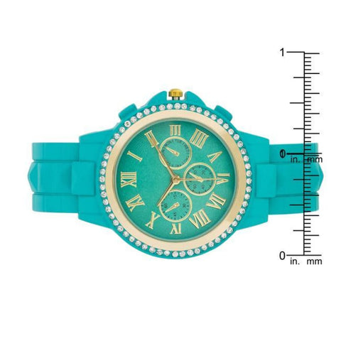 Image of Watches $28.00 Ava Gold Turquoise Metal Watch With Crystals Boho