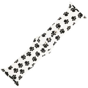 Black and White Paw Print Silicone Apple Watch Sports Band