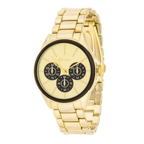 Watches $33.00 Chrono Gold Metal Watch