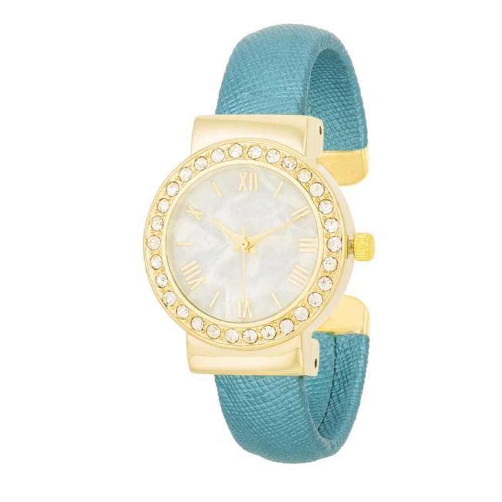 Watches $27.00 Fashion Shell Pearl Cuff Watch With Crystals