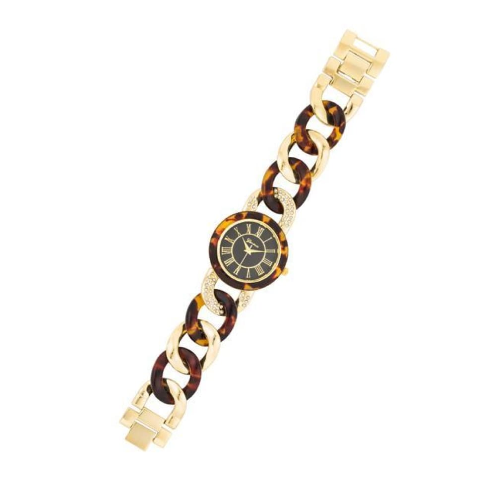 Watches $36.00 Gold Link Watch With Crystlas
